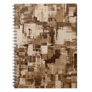 Abstractly Art Grey Pattern Notebook