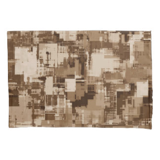 Abstractly Art  Grey Pattern Pillowcase