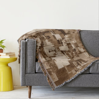 Abstractly Art  Grey Pattern Throw Blanket