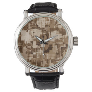 Abstractly Art Grey Pattern Wristwatch