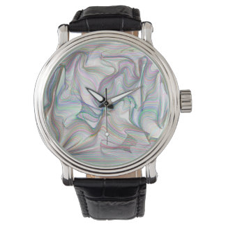 Abstractly Art Multi Color Contorted Waves Watches