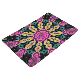 Abstractly Art Purple And Black Floor Mat