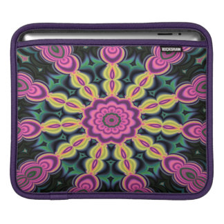 Abstractly Art Purple And Black iPad Sleeve
