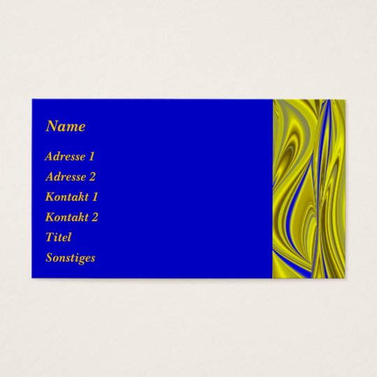 Abstractly in blue gold - yellow business card