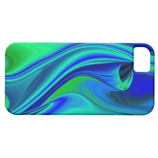 abstractly into green blue PUR-polarize iPhone 5 Cover