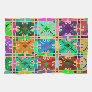 Abstractly Multi Color Art Pattern Tea Towel