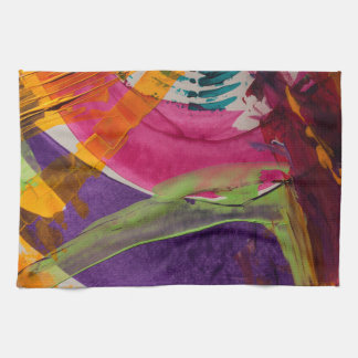 Abstractly Multi Color Art Tea Towel