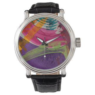 Abstractly Multi Color Art Watch