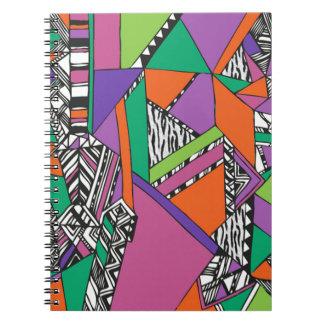 abstrato bonito spiral note books