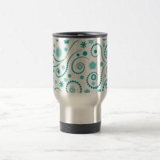 abstrato com boliinhas circulares mug