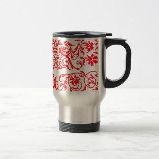 abstrato com tons vermelho mug
