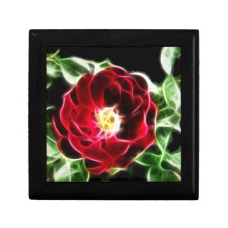 Abstsract red rose small square gift box