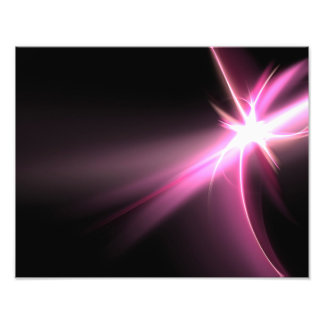 Abtract Pink Energy Fractal Photographic Print