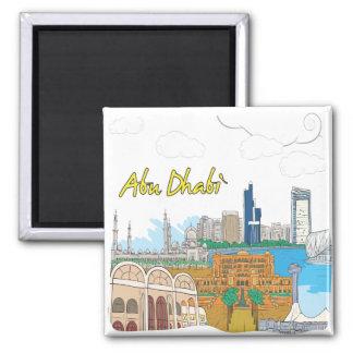 Abu Dhabi Square Magnet
