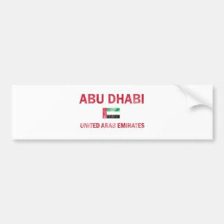 Abu Dhabi United Arab Emirates Designs Bumper Sticker
