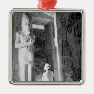 Abu Simbel Egypt, Tourist inside Temple (NR) Christmas Ornament