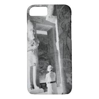 Abu Simbel Egypt, Tourist inside Temple (NR) iPhone 8/7 Case