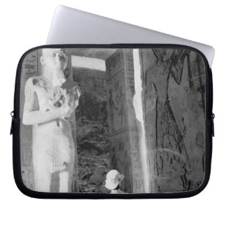 Abu Simbel Egypt, Tourist inside Temple (NR) Laptop Sleeve