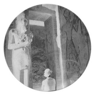 Abu Simbel Egypt, Tourist inside Temple (NR) Plate