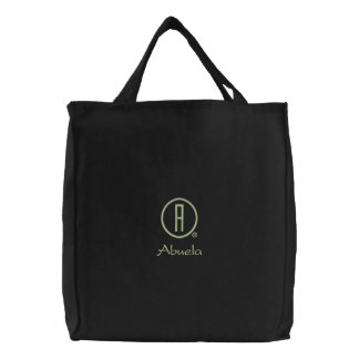 Abuela's Embroidered Tote Bag