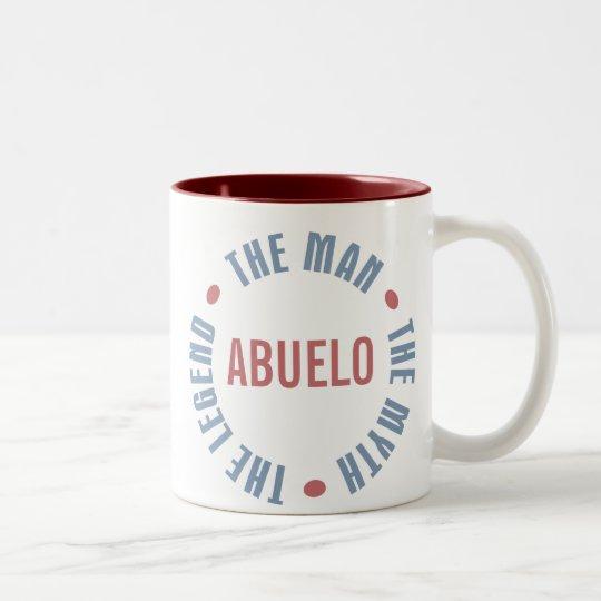 Abuelo Man Myth Legend Customisable Two-Tone Coffee Mug