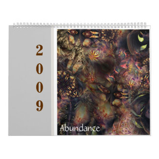 Abundance 2009 flora wall calendars