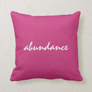 Abundance Affirmation Pillow