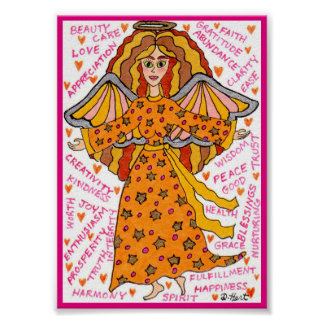 Abundance Angel Positive Affirmations Mini Poster