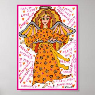 Abundance Angel Positive Affirmations Mini Poster