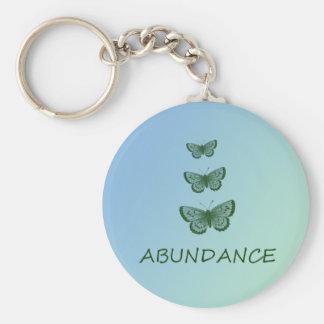Abundance Basic Round Button Key Ring