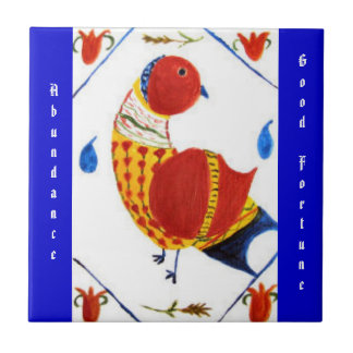 Abundance & Good Fortune PA Dutch Hex Sign Tile