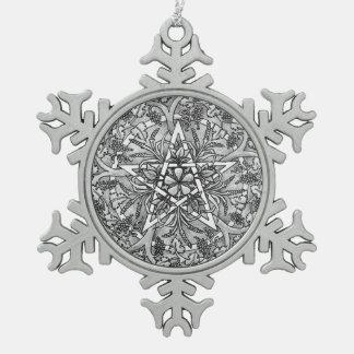 "Abundance Pentacle ""Silver"" Snowflake Ornament"