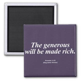 Abundance Proverbs 11:25 Abbrev Fridge Magnets