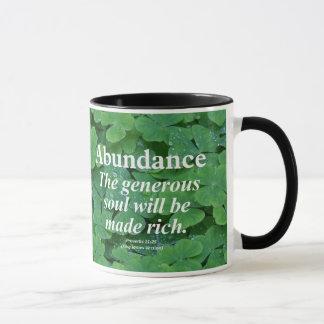 Abundance Proverbs 11:25 Mug