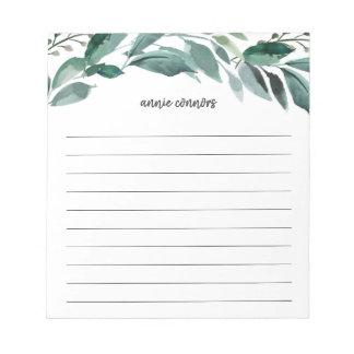 Abundant Foliage | Personalized Lined Notepad