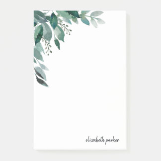 Abundant Foliage | Personalized Post-it Notes