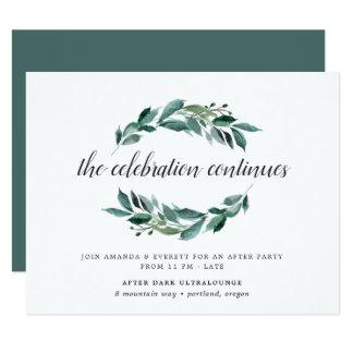 Abundant Foliage Wedding After Party Invitation
