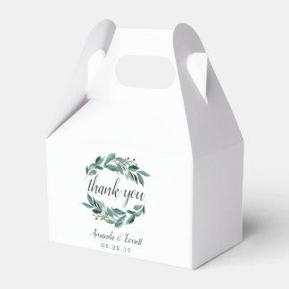 Abundant Foliage Wedding Favour Box