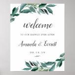 Abundant Foliage Wedding Welcome Poster