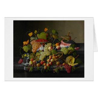 Abundant Fruit, 1858 (oil on canvas) Card