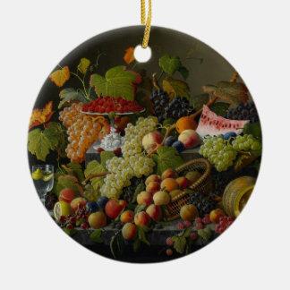Abundant Fruit, 1858 (oil on canvas) Christmas Ornament