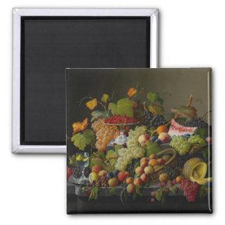 Abundant Fruit, 1858 (oil on canvas) Magnet