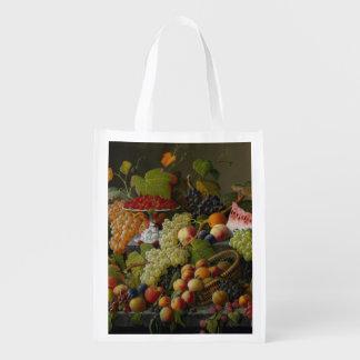 Abundant Fruit, 1858 (oil on canvas) Grocery Bag