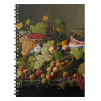 Abundant Fruit, 1858 (oil on canvas) Spiral Notebook