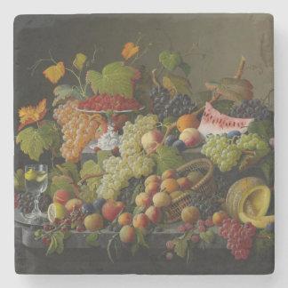 Abundant Fruit, 1858 (oil on canvas) Stone Coaster