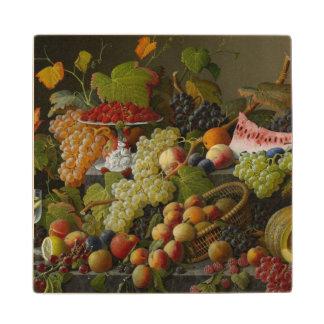 Abundant Fruit, 1858 (oil on canvas) Wood Coaster