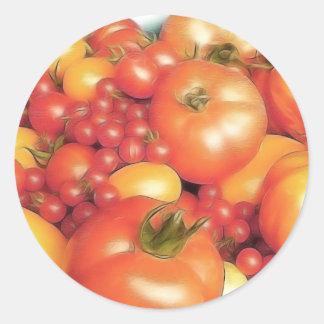 Abundant Harvest - Heirloom Tomatoes Classic Round Sticker