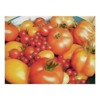 Abundant Harvest - Heirloom Tomatoes Poster