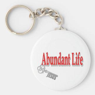 Abundant Life: The Key - v1 (John 10:10) Key Ring