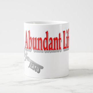 Abundant Life: The Key - v1 (John 10:10) Large Coffee Mug